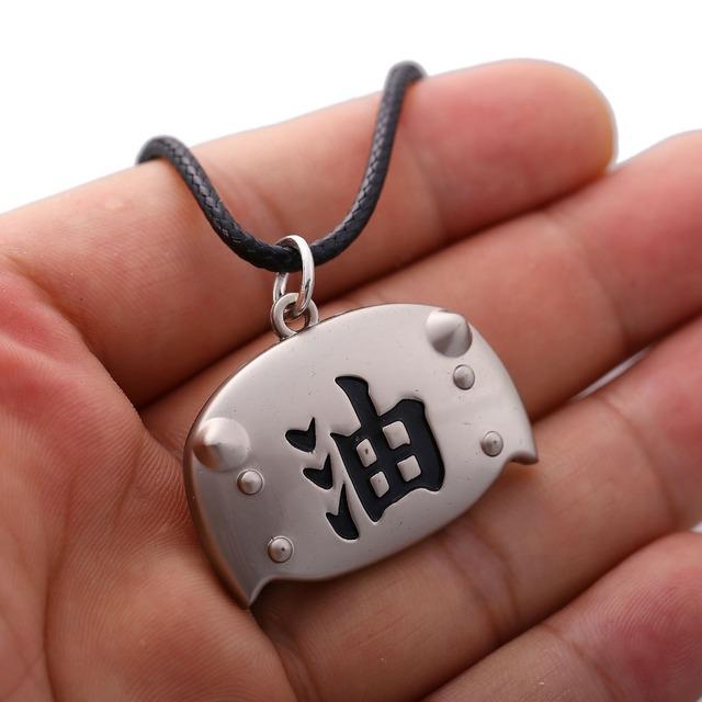 Naruto Jiraiya Forehead Protector Logo Necklace