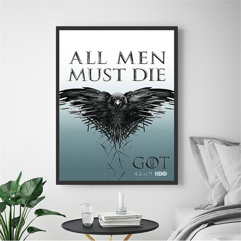 Modern Wall Art Game Of Throne Vintage Posters And Prints Wall Painting Canvas Art Pictures For Living Room Home Decor