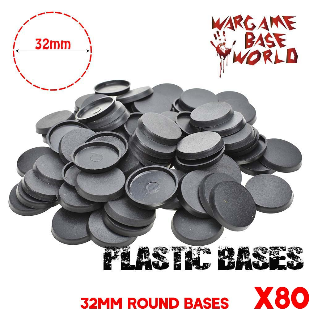 Model bases 80 x 32mm round plastic bases for Gaming Miniatures