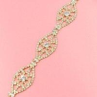 1Yard 2 8cm Crystal Chain Trimming Bling Bling Decorative DIY Applique Gold Trim