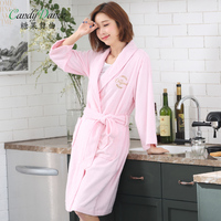 Spring And Autumn Robe Women S 100 Cotton Long Design Toweled Bathoses Waste Absorbing 100 Women