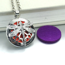 Dragonfly Aroma Diffuser Open Antique Lockets Pendant Perfume Essential Oil Aromatherapy Locket Necklace With Pads 030419 new aroma diffuser necklace open antique vintage lockets pendant perfume essential oil aromatherapy locket necklace with pads