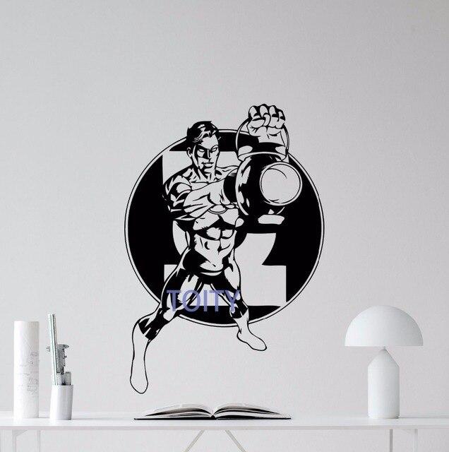 Green lantern wall decal comic book superheroes vinyl sticker decor mural h83cm x w57cm