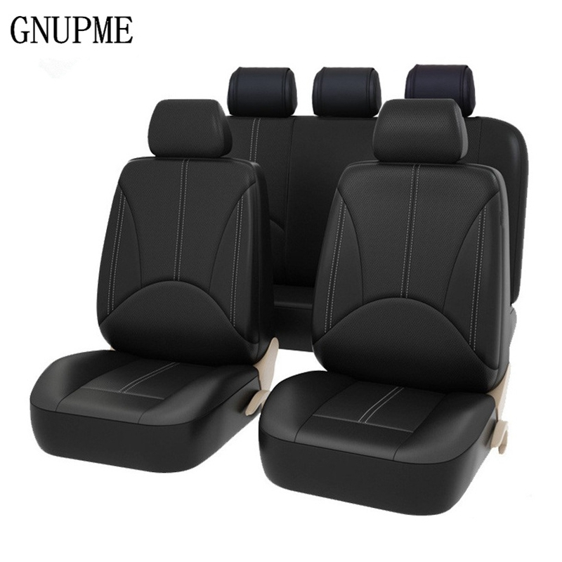 9pcs/ Set Car Seat Covers Interior Accessories Airbag Universal Auto Interior Styling Decoration Protector Car Seat Cover Black dewtreetali 9pcs set universal car seat cover polyester car front back seat cushion covers protector car styling interior access