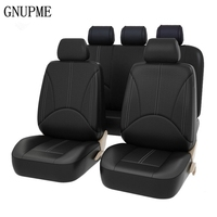 9pcs/ Set Car Seat Covers Interior Accessories Airbag Universal Auto Interior Styling Decoration Protector Car Seat Cover Black