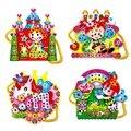 Eva bolsas de dibujos animados hechos a mano diy de diamantes cosidos a mano juguetes educativos para niños