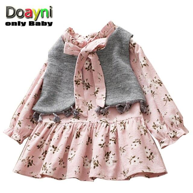 4b715cb9283c Doayni Baby Girls Clothing Dress 2pcs Outwear Jacket + Ruffles ...