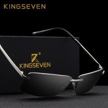 KINGSEVEN 2017 NEW Brand fashion black sunglasses men polarized light male glasses