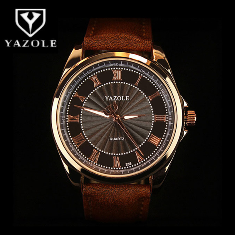 YAZOLE Top Brand Men's Watches Luxury Waterproof Men's Watch Men Watch Fashion Luminous Leather Strap Male Clock  Pakistan