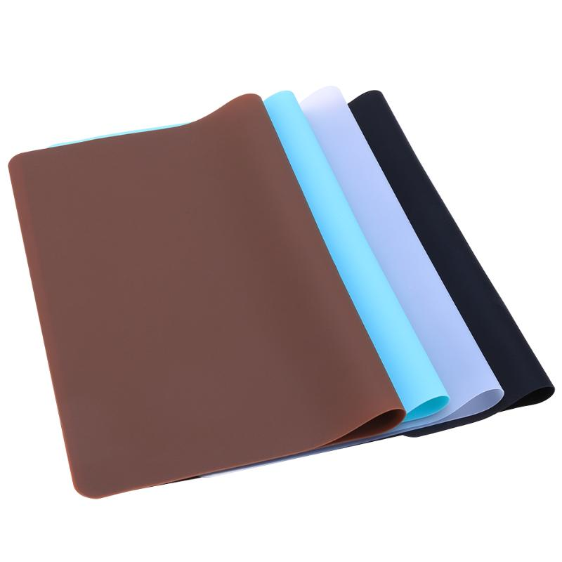 Waterproof 30*40cm Silicone Place Mats Meal Pad Baking Food Mats Heat Resistant Non Slip Table Mat Cooking Tool Book Mats