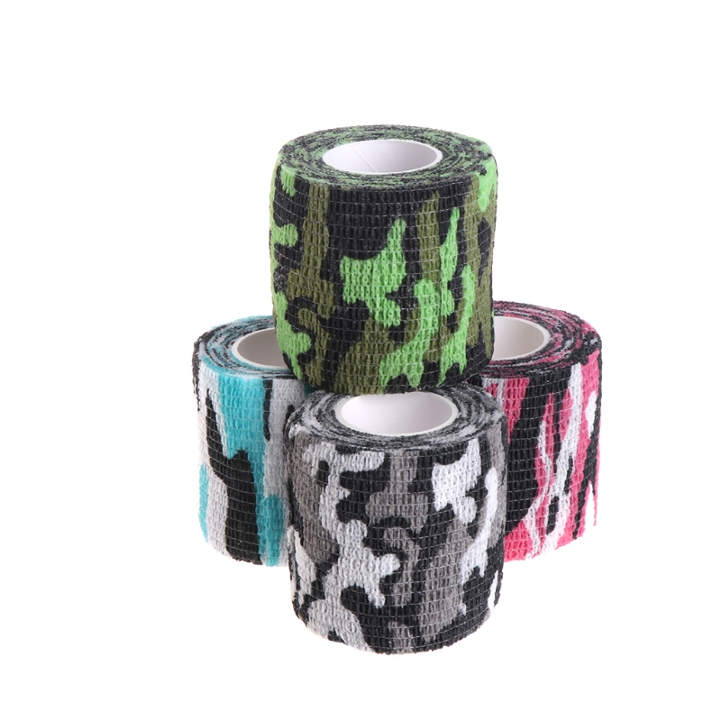 Multifunction Camouflage Tape Adhesive Roller Wrap Scroll Outdoor Guise Elasticity Bandage  4 TypeMultifunction Camouflage Tape Adhesive Roller Wrap Scroll Outdoor Guise Elasticity Bandage  4 Type