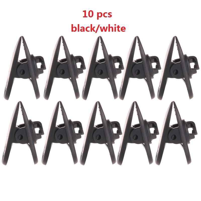 10Pcs/Set Cable Cord Clip Clamp Collar Lapel Shirt Holder For Headphone Earphone