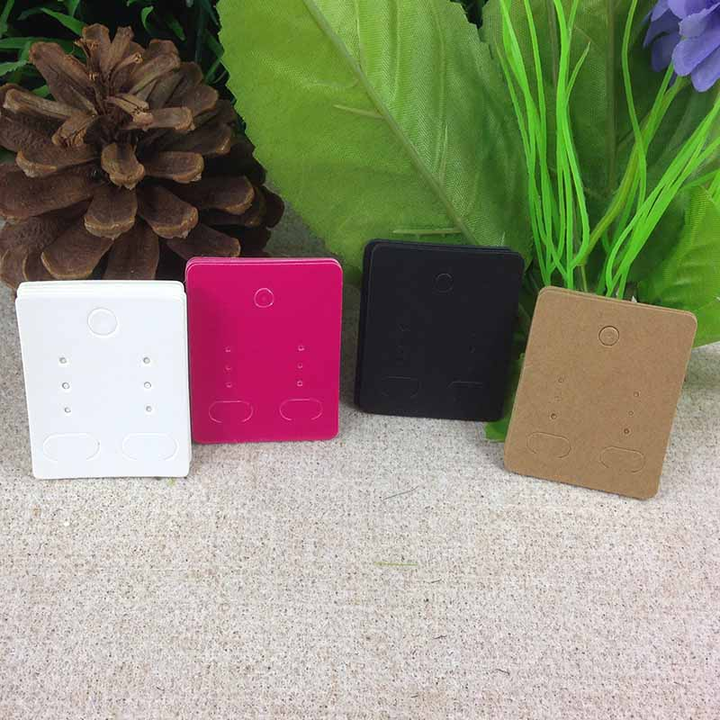Wholesale 2019 New Hot 50x40mm Earring Card Custom Logo Cost Extra  Four Colour For Choice 1lot =200 Pcs