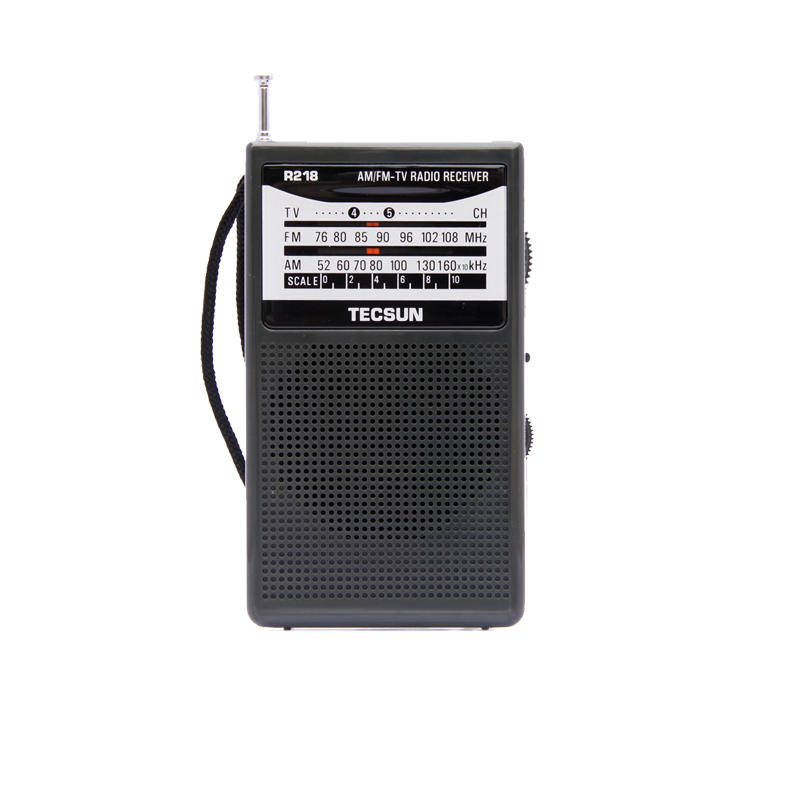Ricevitore radio Pocket Sound TECSUN R-218 AM / FM / TV con altoparlante incorporato