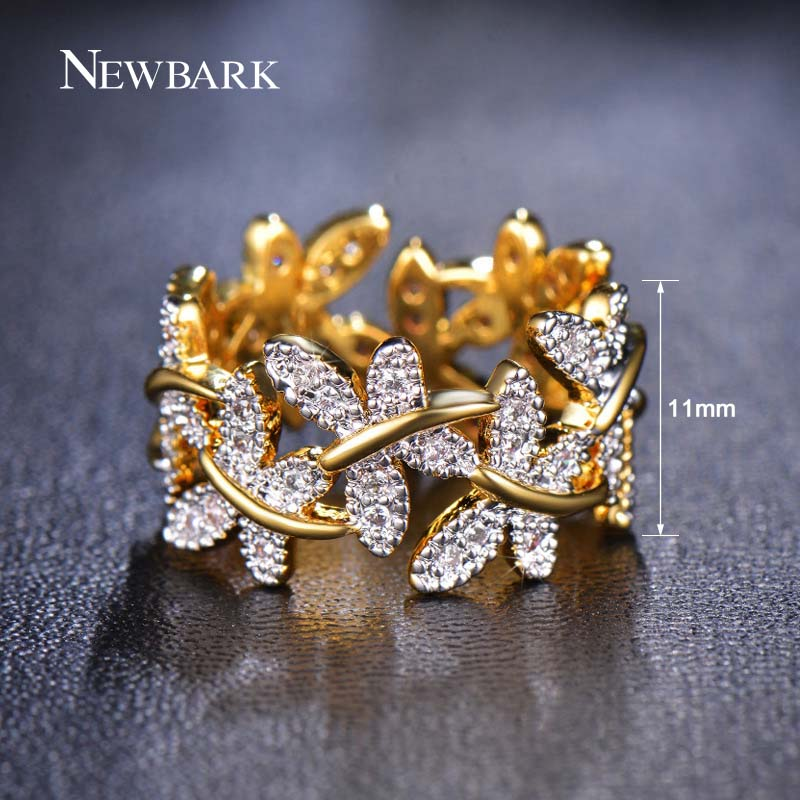 NEWBARK Κομψά δαχτυλίδια λουλουδιών που - Κοσμήματα μόδας - Φωτογραφία 5