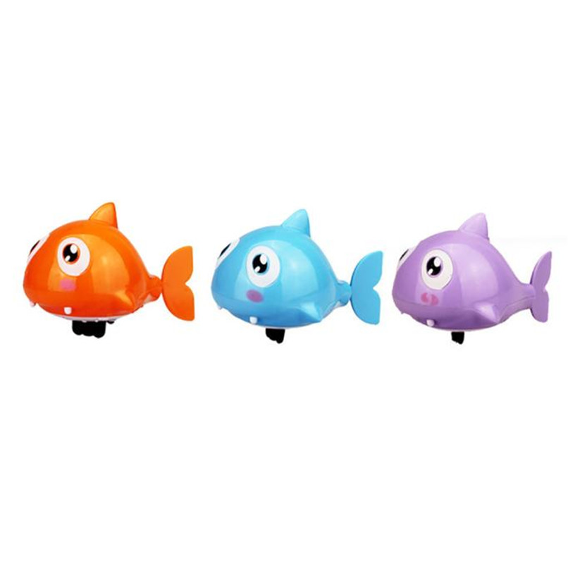 Random Color Bath Toys Clockwork Dabbling Toy Cartoon Ugly fish Model Toys Baby Shower Toys for tub or pool Baby Gift JE28#F