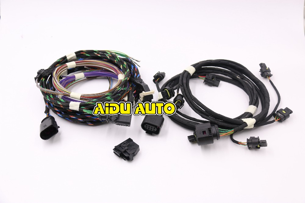 AIDUAUTO Golf 7 MK7 VII auto Parking Front and Rear 8K 12K PLA PDC OPS Install Harness cable wire auto leveling range headlight cornering afs wire cable harness for vw golf 7 mk7