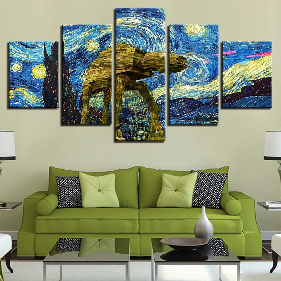 Modular Canvas Painting Hd Prints Home Decor 5 Pieces Van