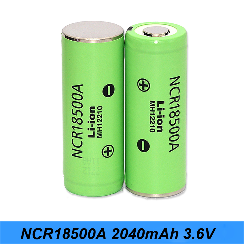Original 3.6V 18500 NCR18500A 2040mAh Rechargeable Battery For Panasoniic Lithium Battery 18500 3.7v