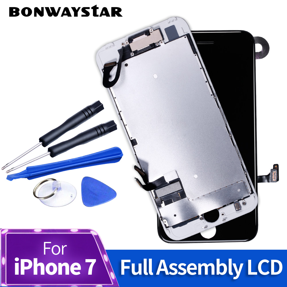 Full set Complete Assembly screen For iPhone 7 7 Plus LCD Display Touch Screen Complete Assembly+Camera without home button image