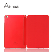 Airress Ultra Slim Lightweight Folded Stand PU For Ipad Mini 3 Smart Stand Cover PC For