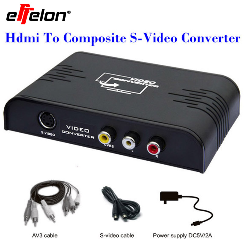 Effelon HDMI To AV RCA Composite&S-video Video R/L Audio Converter 1080P PAL/NTSC with RCA/S-video Cable for Xbox TV 48mm x 1 metric right hand die m48 x 1 0mm pitch