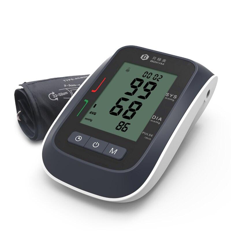 BOXYM LCD Digital Automático Monitor de Pressão Arterial Braço Superior Esfigmomanômetro Tonômetro Cufffor Superior pulsometer Cuidados de Saúde