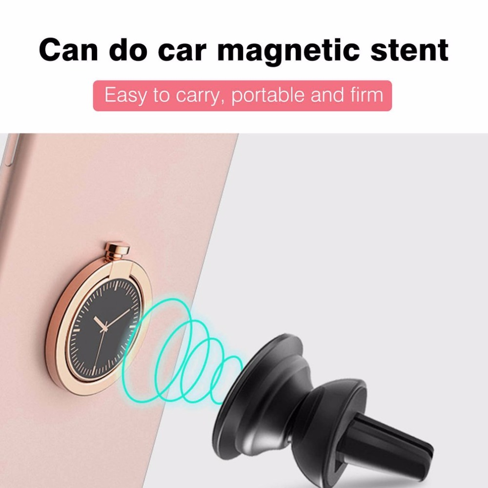 360 Degree Rotation Phone Stand Holder Round Shape Zinc Alloy Watch Decoration Finger Ring Stand For Smartphones
