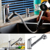 Single Lever Mixer Tap With Pull Out Hose Shower Faucet Modern Stainless Steel Pull Out Kitchen