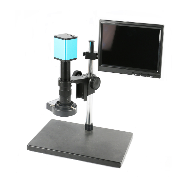1080P SONY <font><b>IMX290</b></font> HDMI USB TF Video Digital <font><b>Microscope</b></font> Camera +180X 300X C-Mount Lens+10.1