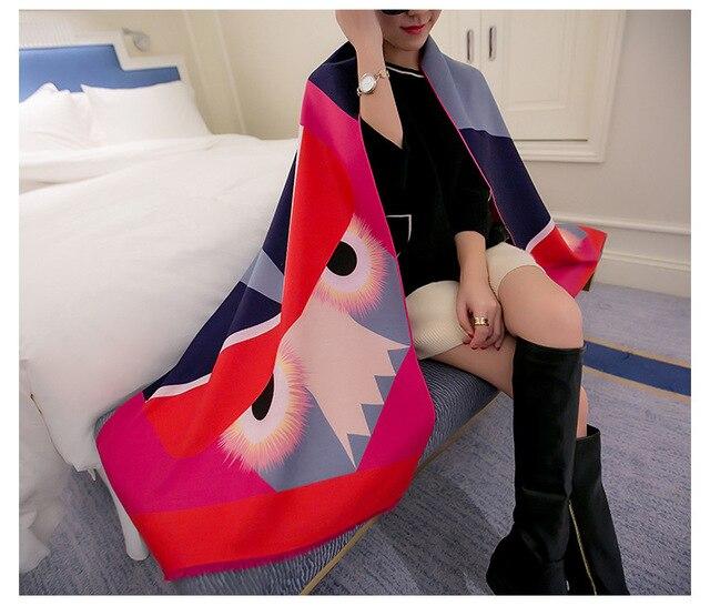 Fashion Long Women ZA Scarves Winter Pashminas Wool Cashmere Scarf Designer Tippet Geometric Super Warm Blanket Scarf Shawl