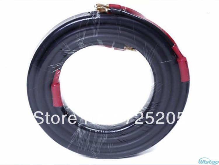 Livraison gratuite câble Audio HIFI 99.9996% sans oxygène haute pureté OFC cuivre plaqué or fiche banane haute Performance