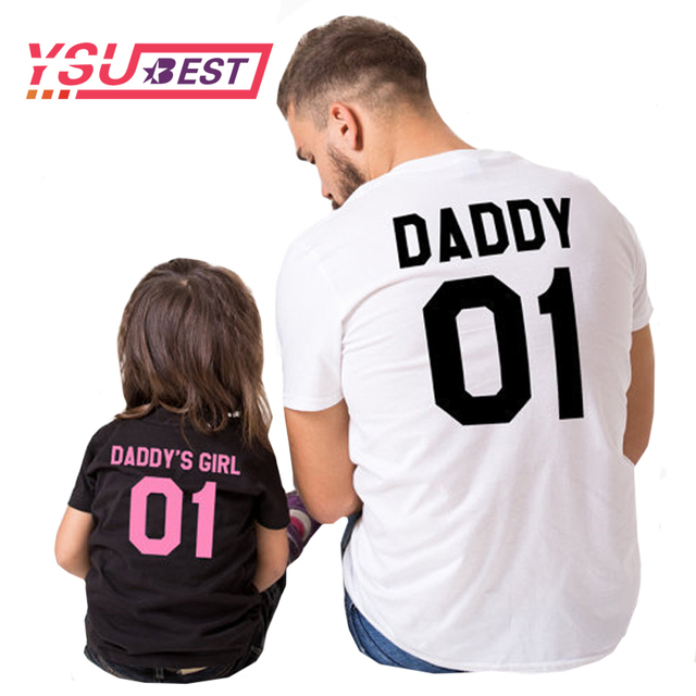 f9597dcfd 2019 Summer Daddy Daughter Family Matching Clothes Family Look Father  Daughter Matching Clothes 01 DADDY GIRL T-Shirts Families