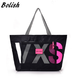 Bolish Nylon Women Handbags Large Capacity Travel Shopping Bags