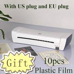 Máquina Plastificadora Profissional Escritório Laminador a Quente Ea Frio Térmica Para A4 Documento Foto Embalagem Rolo De Filme Plástico
