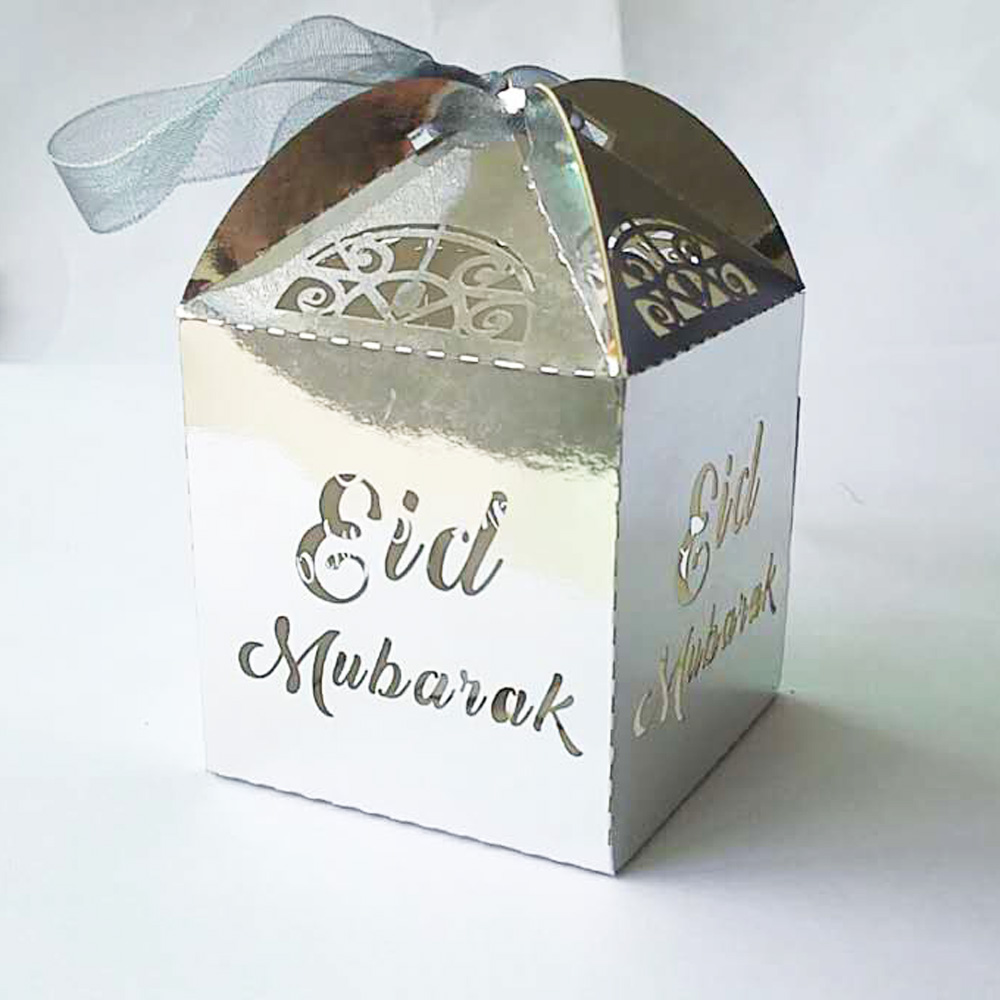 50 Pieces Creative Laser Hollow Out Mini EID Mubarak and Hajj ...