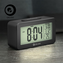 Digoo DG-C4 C4 Digital Sensitive White Backlit LCD Thermometer Desk Alarm Clock Dual Alarm With Snooze