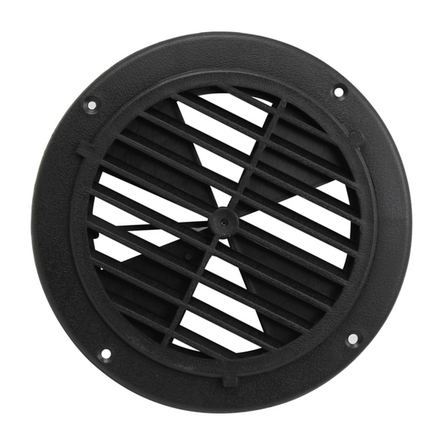 1 Pcs 6.5 Inch Round Louvered Vent For RV Motorhome Boat Ventilation Parts UV Protection 0.7 Inch Thickness PP Plastic