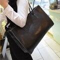 Bolsas 2016 Mulheres de Couro Por Cima Do Ombro Big Bag Sling Preto Cliente Compras Senhoras Bolsas Bolsas Casuais Zíper de Alta Qualidade