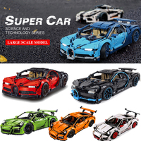 Decool Technic 3388 20086 20001 Ford Mustang Racing Car Building Blocks Bricks Compatible 42083 42056 Gifts Toys bugatti Chiron