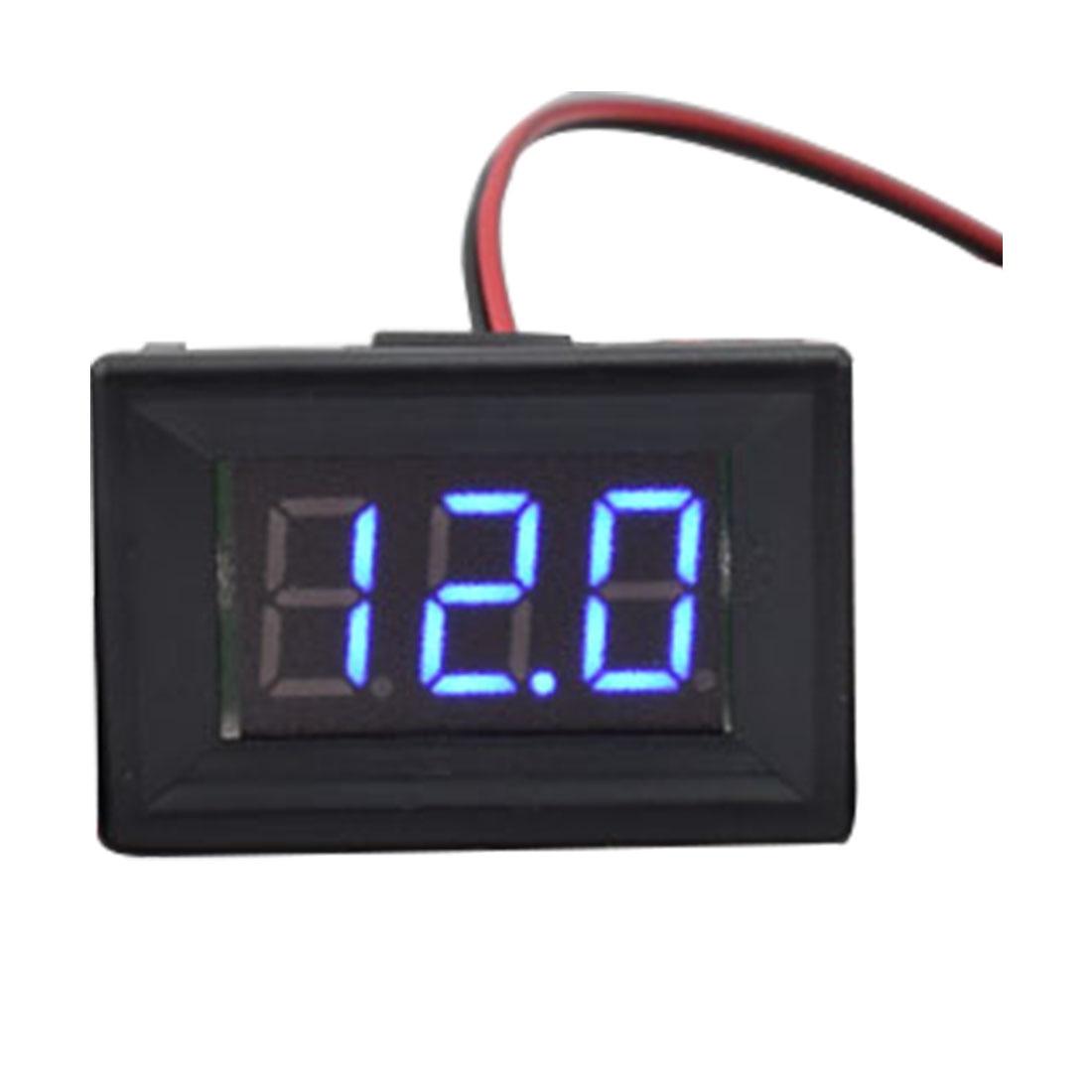 LED Display Blue1pcs Digital Voltmeter Two Wires 0.36 inch DC 4.50V-30.0V Digital Panel Voltage Meter Voltage Detector Monitor