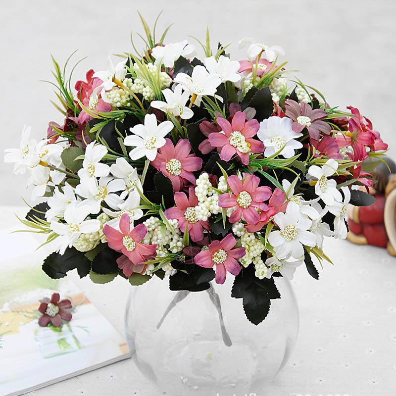 Artificial Daisy Plastic Flowers For Vases Decor New Year Christmas