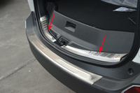 Free Shipping Car Styling High Quality Stainless Steel Internal Rear Bumper Protector Sill For Toyota RAV4