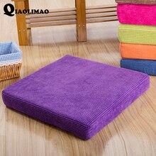 New Corduroy Tatami Cushion Detachable Zipper Square Solid Plaid Thick Winter Warm Chair Pad Cushion Soft Washable Corduroy Home