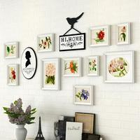 White Wooden Photo Frame 10 Pcs Set Wall Frames Collage Combination Picture Frame Decor For Weddings