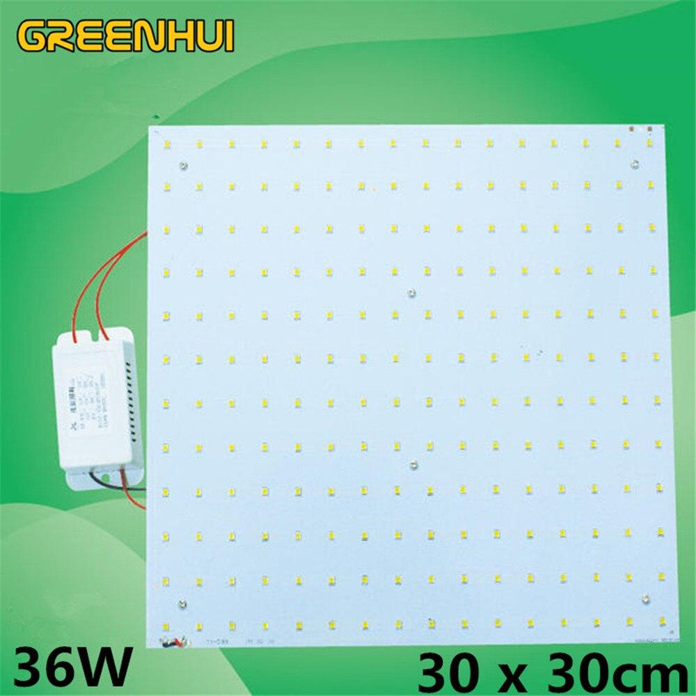En gros carré PCB 36 W SMD2835 magnétique LED plafonniers panneau lumière LED panneau de remplacement 100 W 2D CFL plafonnier 85 ~ 265 V