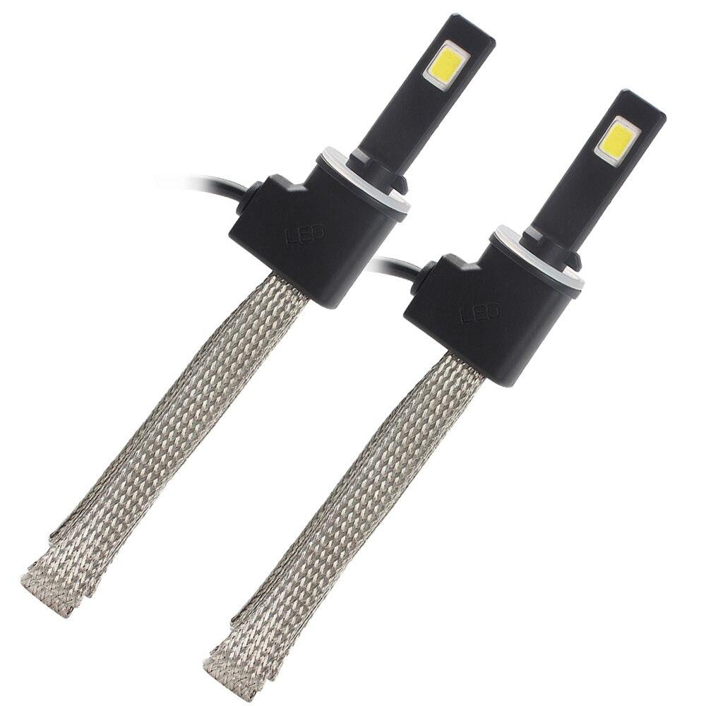 ФОТО 2pcs 880 LED Car Headlight Aluminum Alloy Belt Heat Dissipation 3200LM 6000K Conversion Kit Auto Head Light Lamp Car-styling