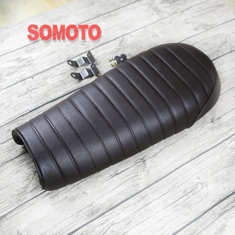 660mm classic Motorcycle Custom flat Vintage Saddle Cafe Racer Seat High quality Caterpillar cushion Retro motorcycle cushion660mm classic Motorcycle Custom flat Vintage Saddle Cafe Racer Seat High quality Caterpillar cushion Retro motorcycle cushion