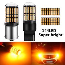 RXZ 1 шт CanBus S25 1156 BA15S p21w BAU15S py21w T20 светодиодный 7440 W21W W21/5 W светодиодный лампы 3014 144smd автомобилей указатели поворота тормозной фонарь