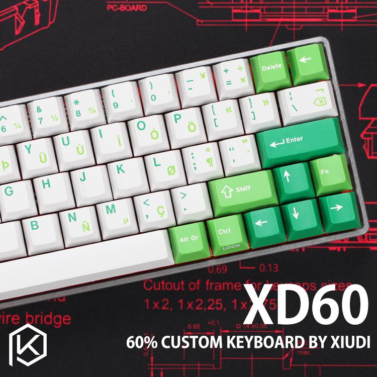 xd60 xd64 Custom Mechanical Keyboard Kit up tp 64 keys Supports TKG-TOOLS  Underglow RGB PCB GH60 60% programmed gh60 kle